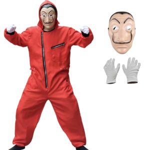 Déguisement Casa de papel combinaison, masque et gants Enfant Déguisement Casa de Papel Déguisement Film