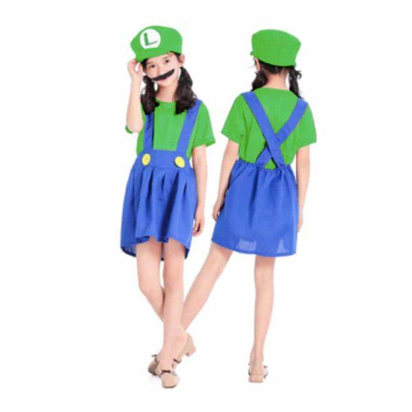 Déguisement Luigi enfant fille Déguisement Mario Déguisement Jeux Vidéos