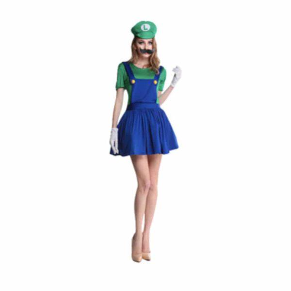 Déguisement Luigi femme Déguisement Mario Déguisement Jeux Vidéos