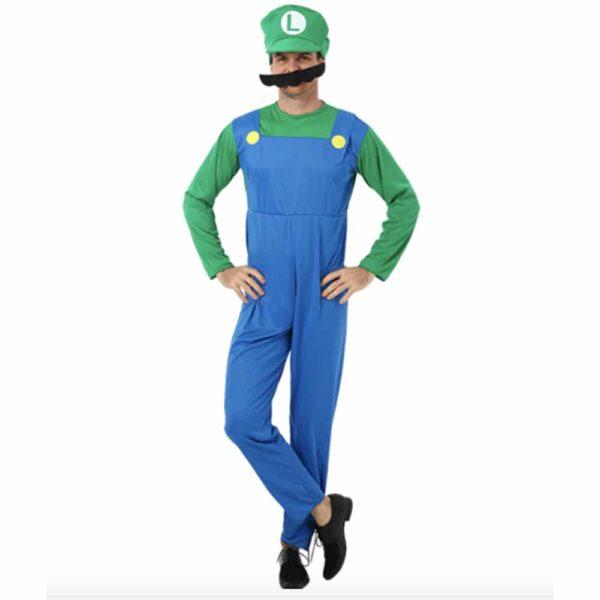 Déguisement Luigi homme Déguisement Mario Déguisement Jeux Vidéos