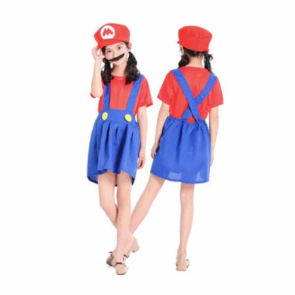 Déguisement Mario Bros enfant fille Déguisement Mario Déguisement Jeux Vidéos