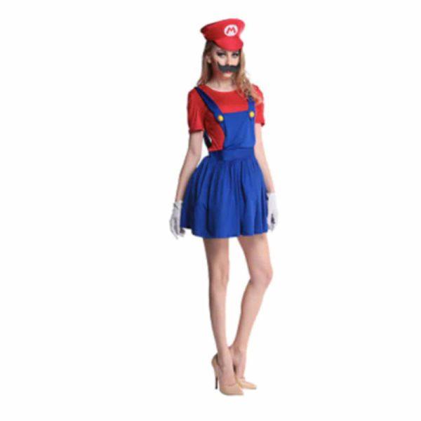 Déguisement Mario Bros femme Déguisement Mario Déguisement Jeux Vidéos