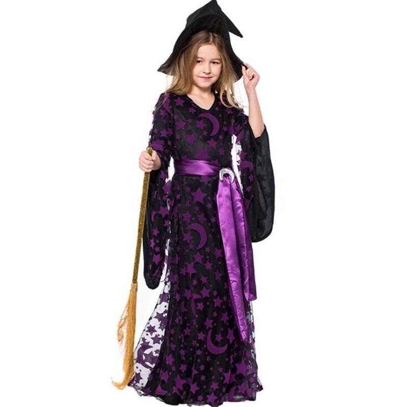 Déguisement enfant sorcière violet Déguisement Sorcière Déguisement Fantastique Déguisement Halloween