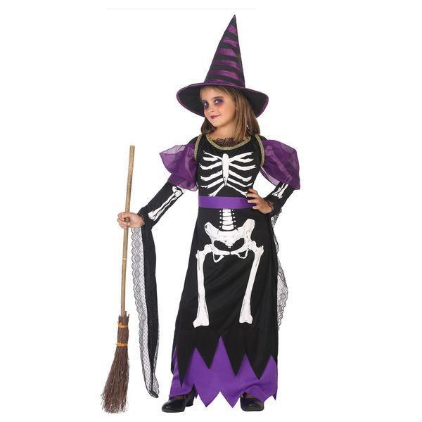 Déguisement fille Sorcière Squelette Déguisement Sorcière Déguisement Fantastique Déguisement Halloween