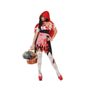Déguisement pour Adultes Chaperon rouge sanglant Déguisement Halloween