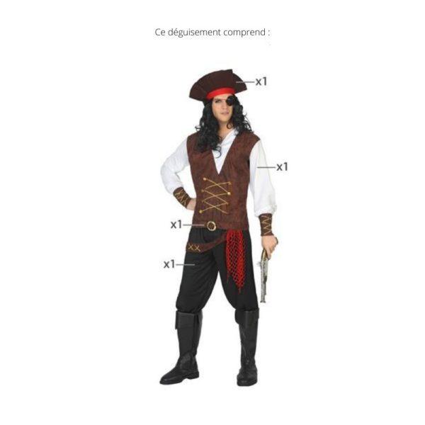 Déguisement pour Adultes Homme pirate Déguisement Pirate Déguisement Historique