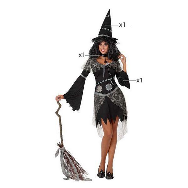 Déguisement pour Adultes Sorcière Noir Déguisement Sorcière Déguisement Fantastique Déguisement Halloween