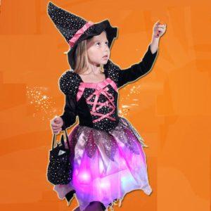 Déguisement robe de sorcière à LED Déguisement Sorcière Déguisement Fantastique Déguisement Halloween
