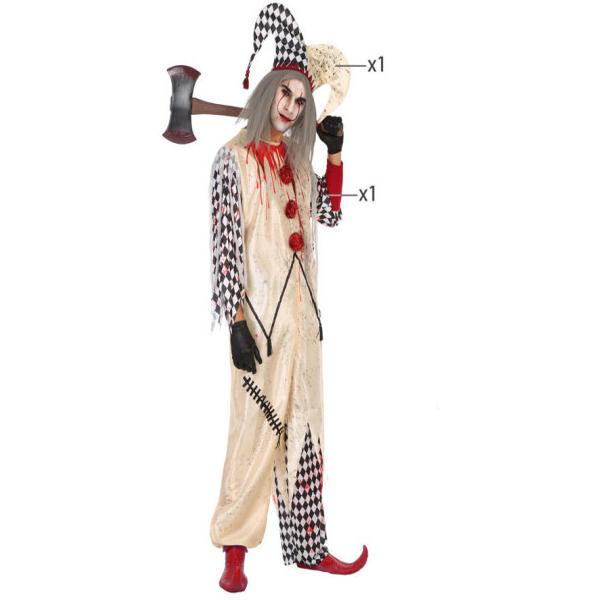 Déguisement homme Arlequin ensanglanté Déguisement Halloween