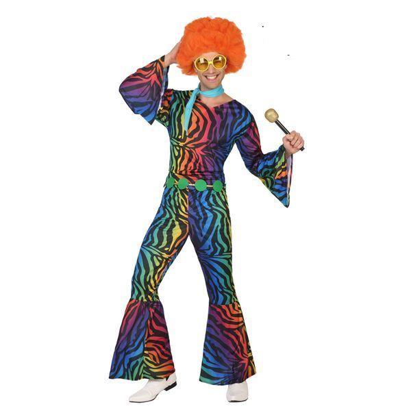 Déguisement pour Adultes Disco multicolore Déguisement Disco Déguisement Historique