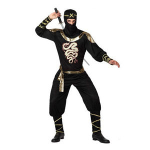 Déguisement pour Adultes Ninja noir et or Déguisement Ninja Déguisement Historique