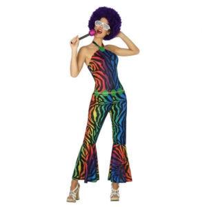 Déguisement pour Adultes femme Disco multicolore Déguisement Disco Déguisement Historique