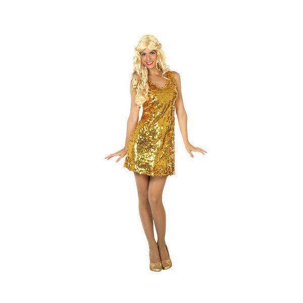 Déguisement pour Adultes robe Disco doré Déguisement Disco Déguisement Historique