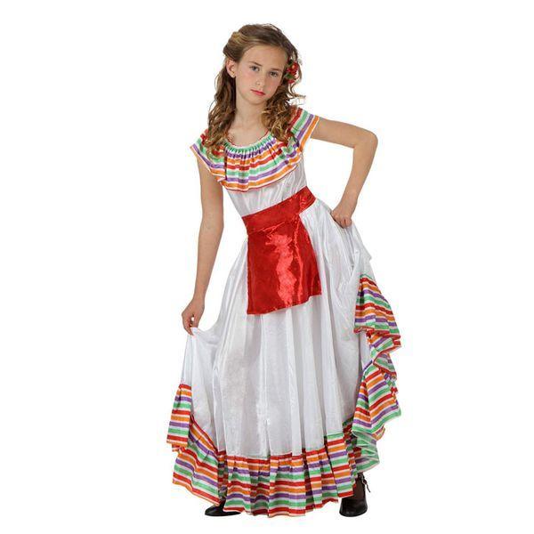 Déguisement pour Enfants Mexicaine Déguisement Mexicain Déguisement Historique