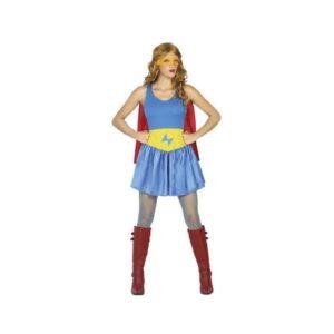 Déguisement pour Adultes Superhéroïne bleu Déguisement Super Héro Déguisement Film