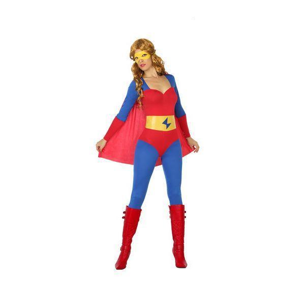 Déguisement pour Adultes Superhéroïne bleu et rouge Déguisement Super Héro Déguisement Film