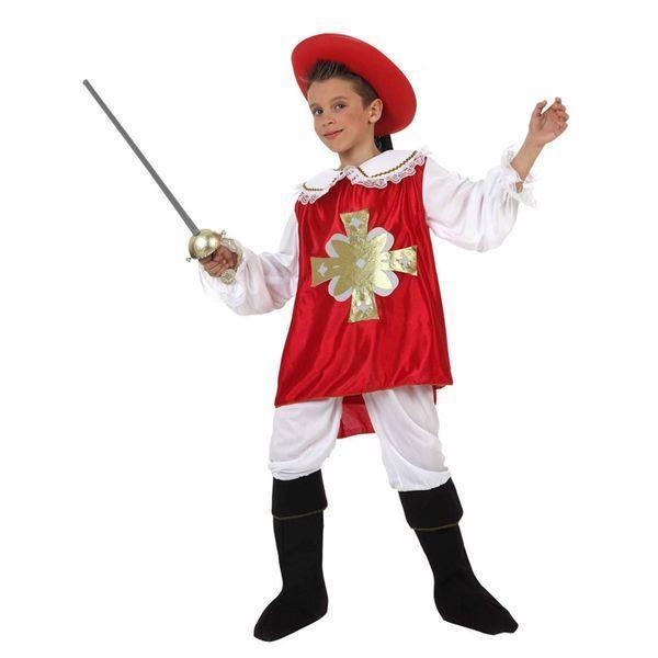 Déguisement pour Enfants Mousquetaire rouge Déguisement Chevalier Déguisement Historique