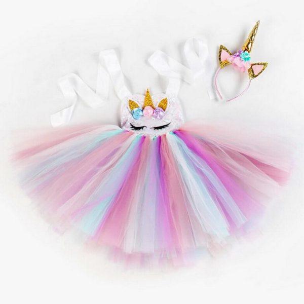 Déguisement enfant robe tutu licorne arc-en-ciel Déguisement Animaux Déguisement Licorne