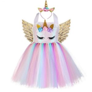 Déguisement enfant robe tutu licorne rose Déguisement Animaux Déguisement Licorne
