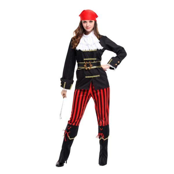 Costume de capitaine pirate standard Déguisement Halloween Déguisement Historique Déguisement Pirate