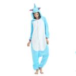 Déguisement adulte combinaison licorne bleu Déguisement Animaux Déguisement Licorne