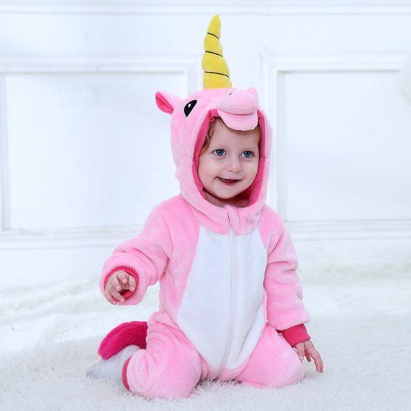 Déguisement bébé combinaison licorne rose Déguisement Animaux Déguisement Licorne