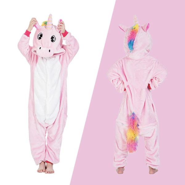 Déguisement enfant combinaison licorne rose et blanche Déguisement Animaux Déguisement Licorne