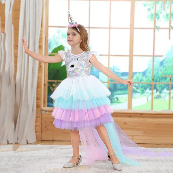 Déguisement enfant princesse licorne
