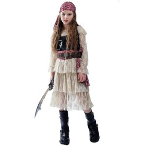 Robe cosplay pirate pour filles Déguisement Historique Déguisement Pirate