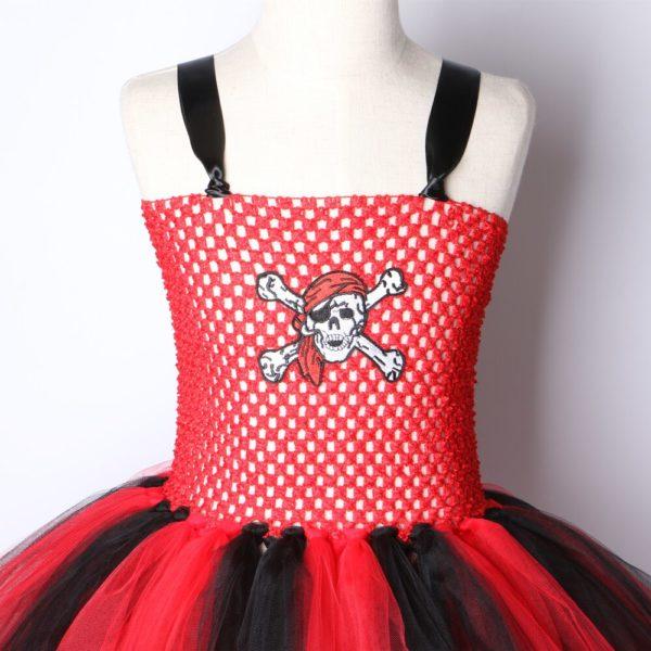 Robe de pirate en tutu pour filles Déguisement Halloween Déguisement Historique Déguisement Pirate