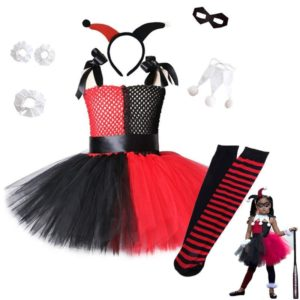 Costume Harley Quinn Arlequin 6 éléments et chaussettes Déguisement Film